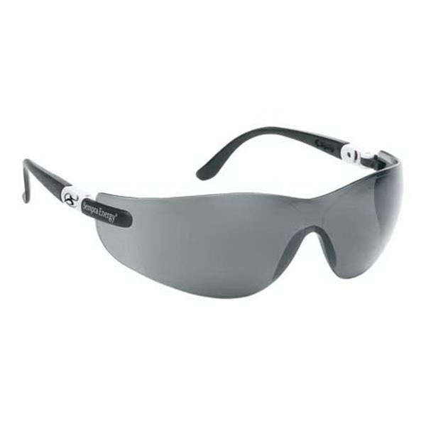Gray, Anti-fog Lens, Wrap-around Safety Glasses With Ratchet Temples Photo