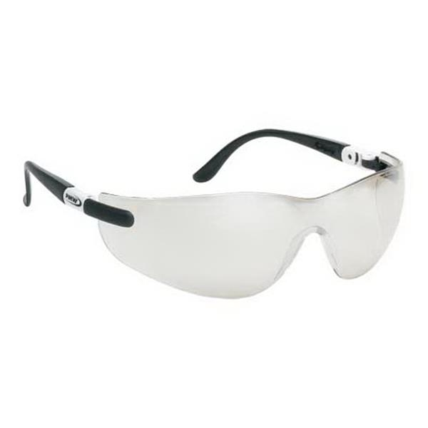 Wrap-around Safety Glasses With Ratchet Temples And Indoor/outdoor Lens Photo