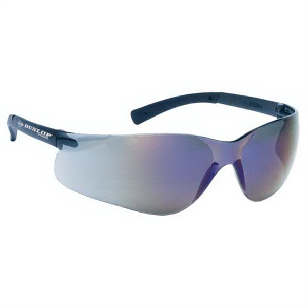 Blue Mirror Lens With Self Frame Lightweight Wrap Around Safety Glasses Photo