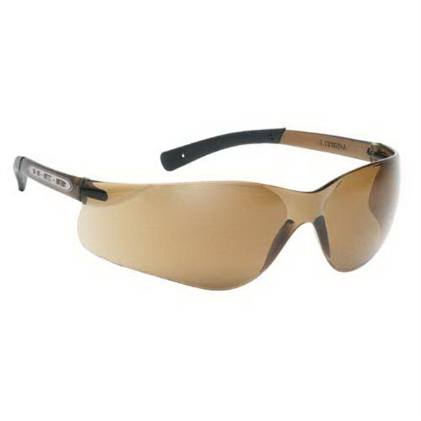Lightweight Wrap Around Safety Glasses With Brown Lens And Frame Photo