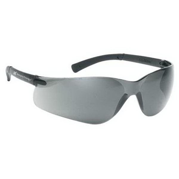 Gray Lens With Gray Frame, Lightweight Wrap Around Safety Glasses Photo