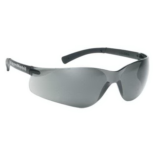 Gray Anti-fog Lens With Gray Frame. Lightweight Wrap Around Safety Glasses Photo