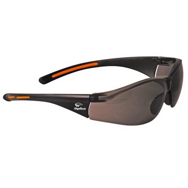 Provizgard - Gray Lens - Lightweight Wrap-around Safety Glasses With Nose Piece And Black Frame Photo