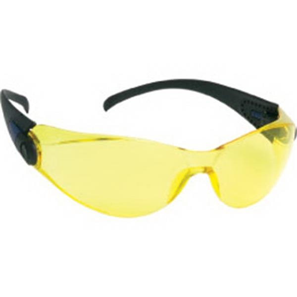 Amber Lens - Sporty Single Piece Lens Safety Glasses Photo