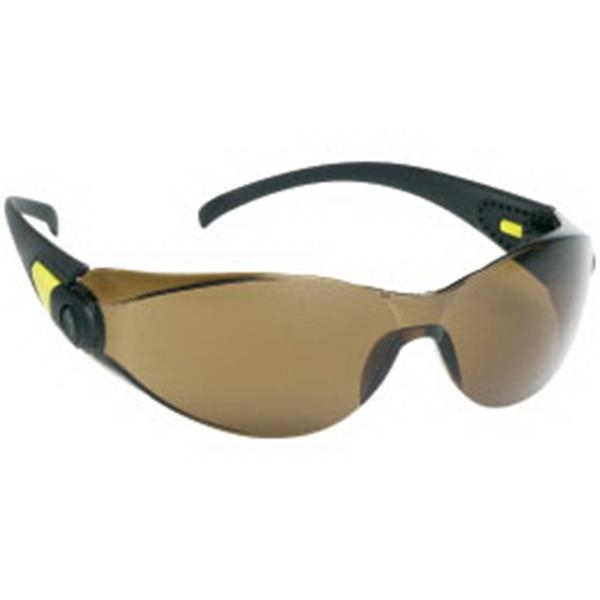 Brown Lens - Sporty Single Piece Lens Safety Glasses Photo