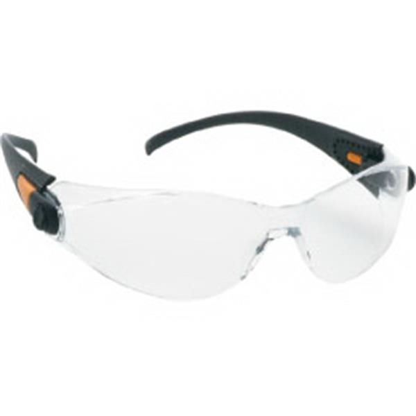 Provizgard - Clear Anti-fog Lens - Sporty Single-piece Lens, Black Frame Safety Glasses Photo