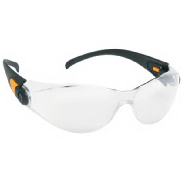 Provizgard - Silver Mirror Lens - Sporty Single-piece Lens, Black Frame Safety Glasses Photo