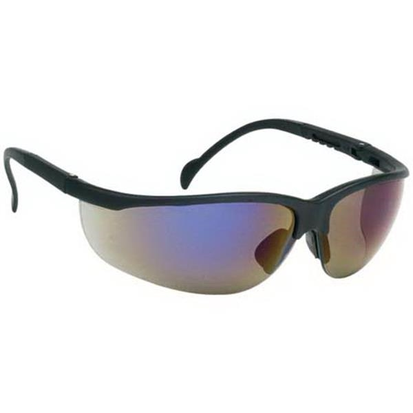 Blue Mirror Lens - Wrap-around Safety Glasses Photo