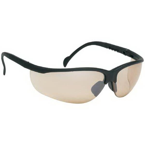 Brown Mirror Lens - Wrap-around Safety Glasses Photo