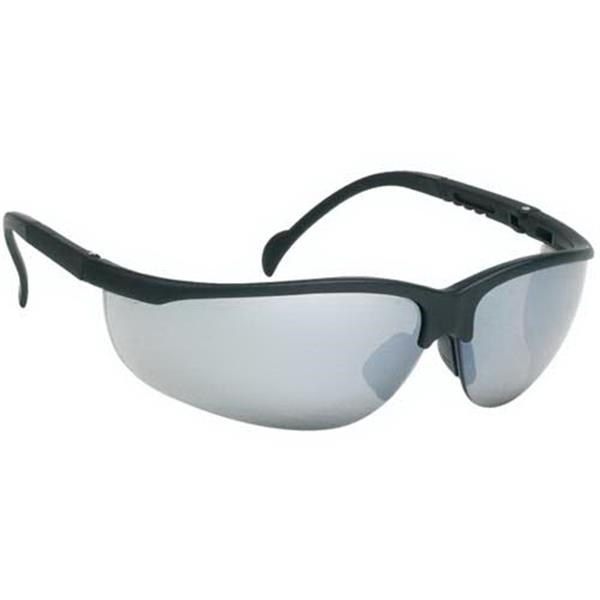 Silver Mirror Lens - Wrap-around Safety Glasses Photo