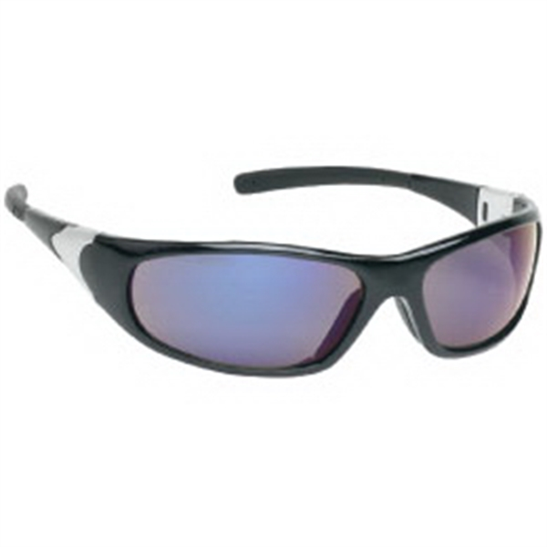 Blue Mirror Lens - Sports Style Safety Glasses Photo