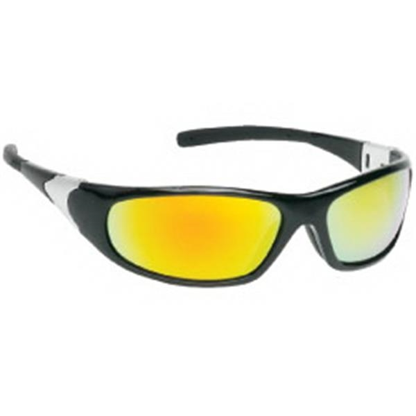 Orange Mirror Lens - Sports Style Safety Glasses Photo
