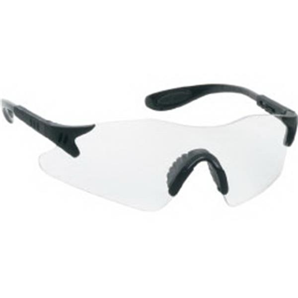 Clear Lens - Styling Single-piece Lens Safety Glasses With Black Frame Photo