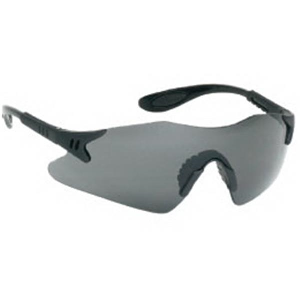 Gray Lens - Styling Single-piece Lens Safety Glasses With Black Frame Photo