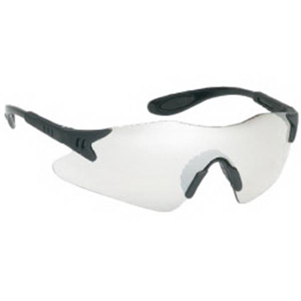 Indoor/outdoor Mirror Lens - Black Frame Styling Single-piece Lens Safety Glasses With Rubber Nose Piece Photo