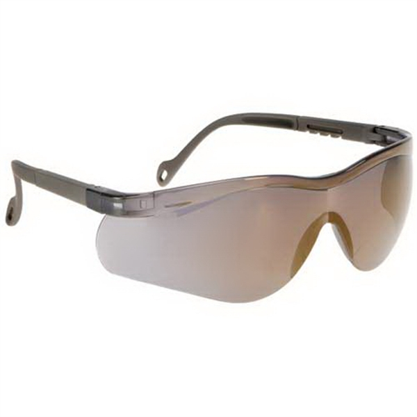 Gold Mirror Lens - Single-piece Lens Wrap-around Safety Glasses Photo