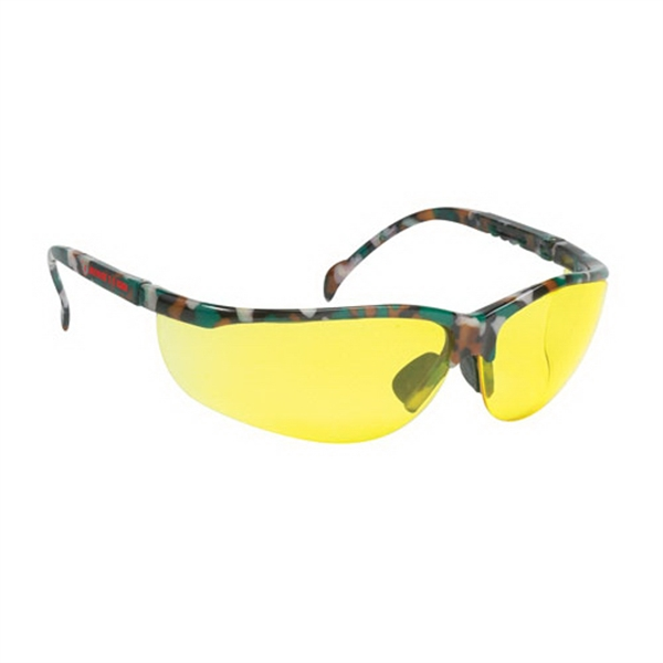 Wrap Around Safety Glasses With Amber Lens And Camo Frame Photo
