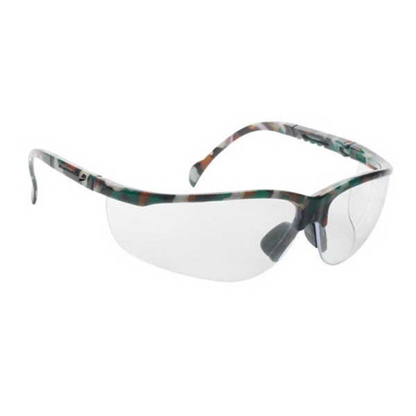 Wrap Around Safety Glasses With Clear Lens And Camo Frame Photo