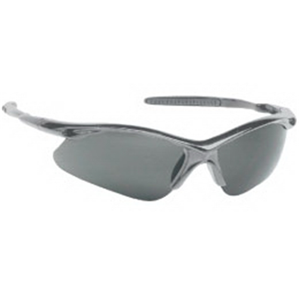 Stylish Safety Glasses With Gray Lens And Frame Photo