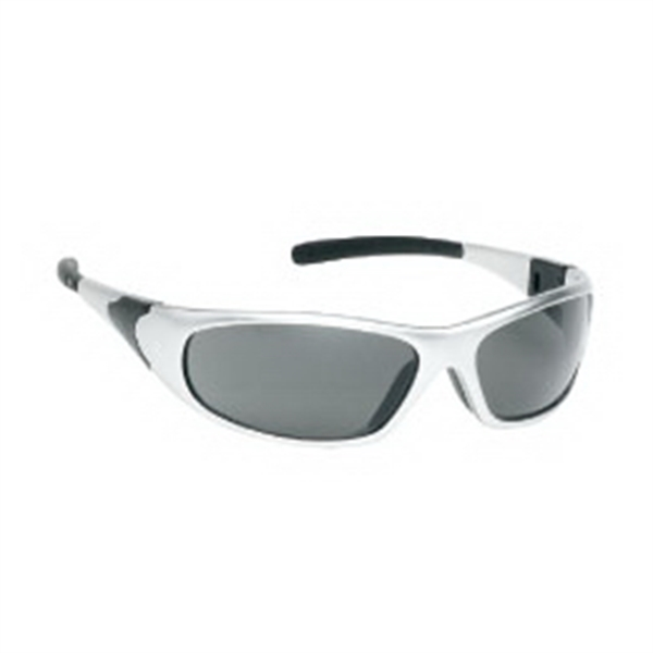 Gray Anti-fog Lens - Sports Style Safety Glasses With Silver Frame Photo