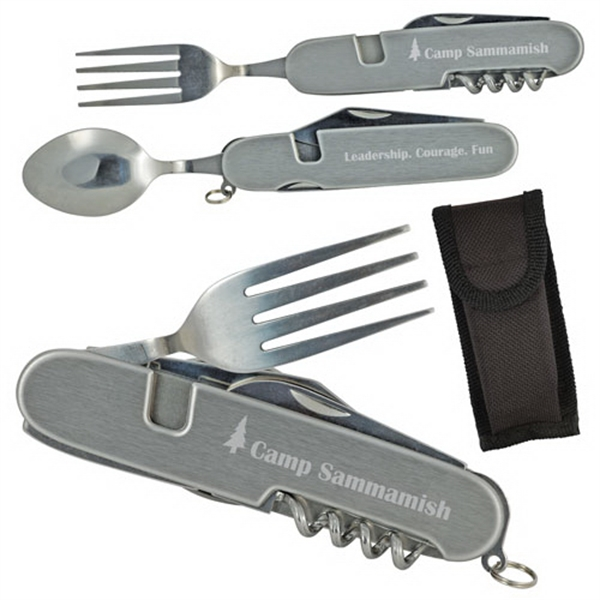 6 In 1 Stainless Steel Camping Tool Photo