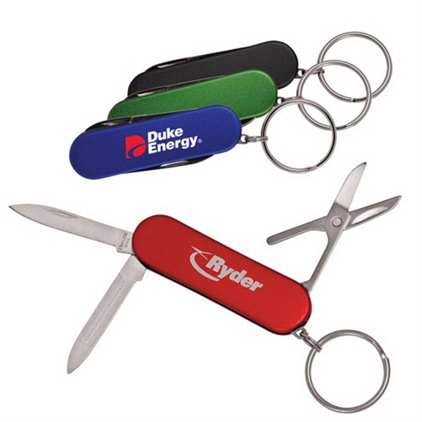 Four Function Pocket Knife With Key-ring Photo