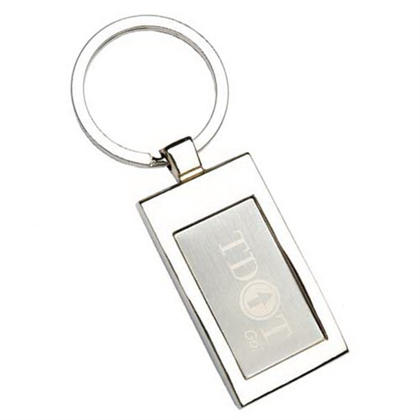 "7/8"" X 3/8"" - Chrome Key Tag Photo"