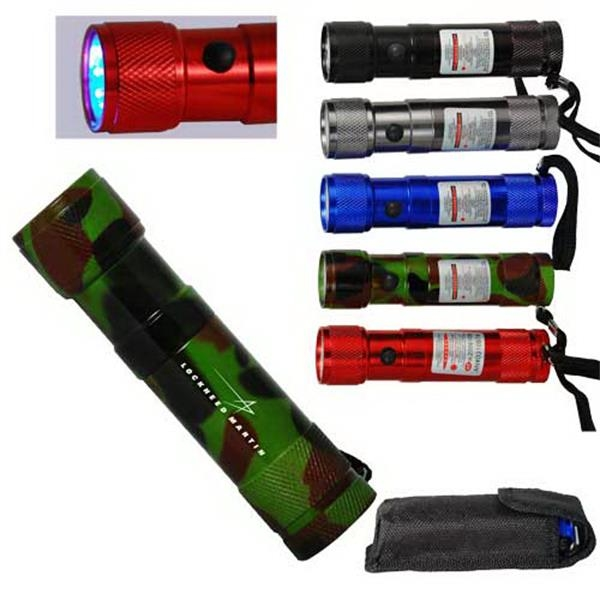 8 Led Flashlight With Laser Pointer Photo