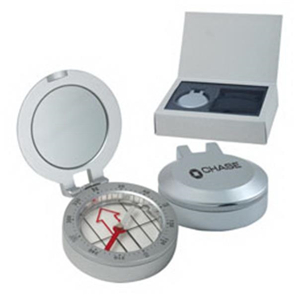 Metal Compass With Sighting Mirror Photo