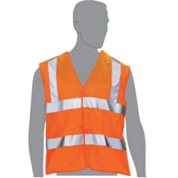 Orange - Class 2 Compliant 5 Point Break Away Blank Mesh Vest Photo