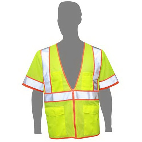 Highlight - Class 3 Compliant Mesh Safety Vest With Sleeves Photo