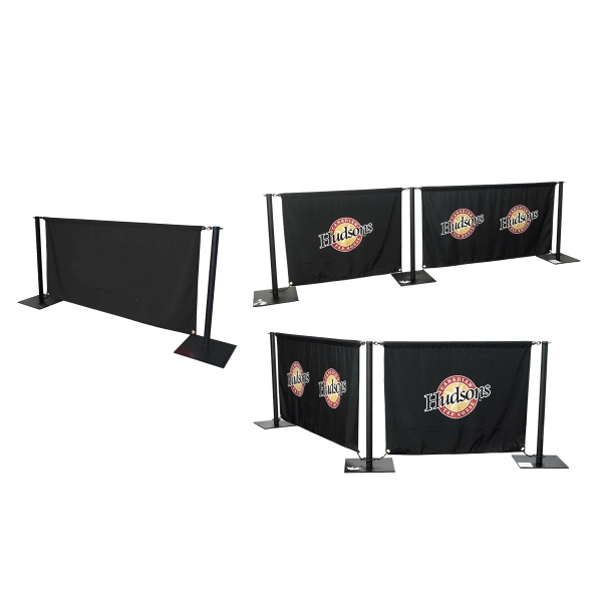 Cafe Barrier Banner With 6 Ft Horizontal Pole Photo