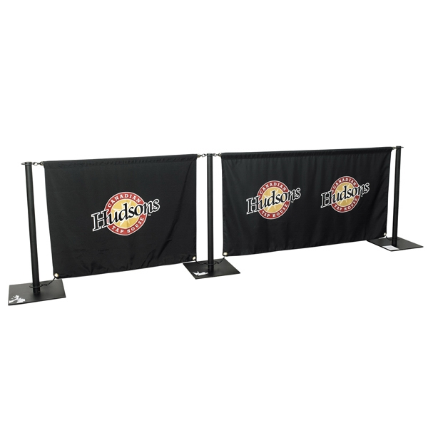 Cafe Barrier Banner With 4 Ft Horizontal Poles Photo