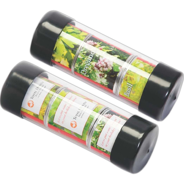Herb Garden Consists 3 Cans Of Quick Germinating Herbs Basil, Cilantro Or Oregano Photo