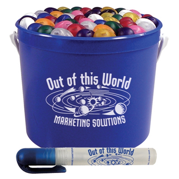 50 Pen Spray Sanitizers In A 64 Ounce Sand Pail Photo