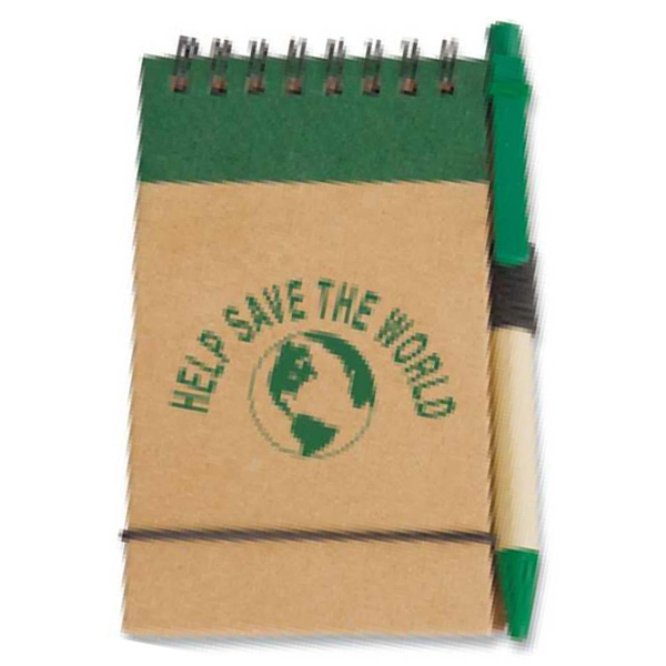 Targetline - Eco Pocket Jotter With Paper Barrel Pen Photo
