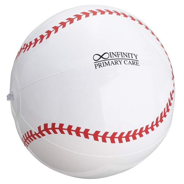 "Inflatable Beach Ball Designed To Look Like A Baseball, 14"" Photo"