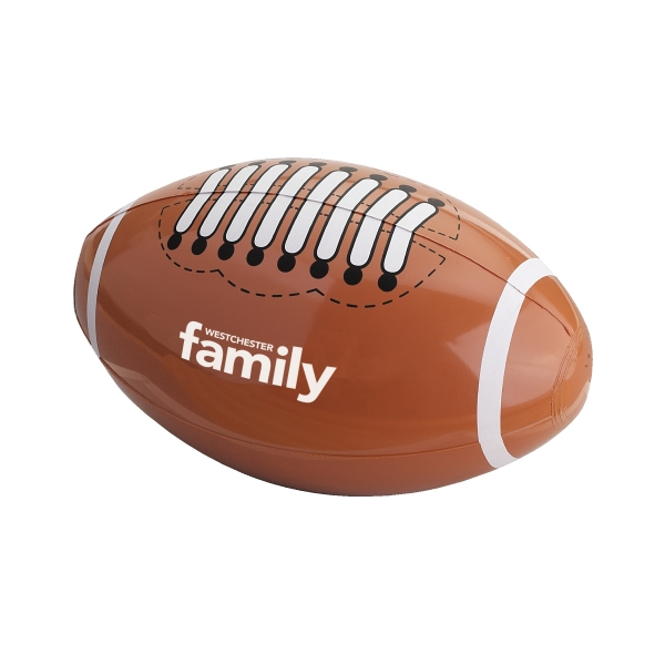 "Inflatable Beach Ball Designed To Look Like A Football, 14"" Photo"