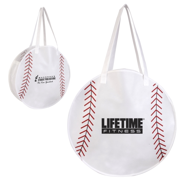 Rallytotes (tm) - Eco Friendly Tote Bag Made Of Durable Non-woven Poly Looks Like A Baseball Photo