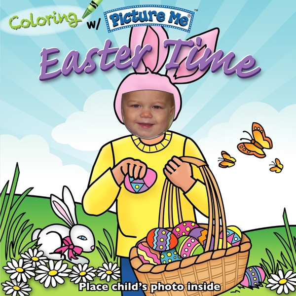 Coloring With Picture Me(r) - Children's Coloring Book On Easter Time Photo