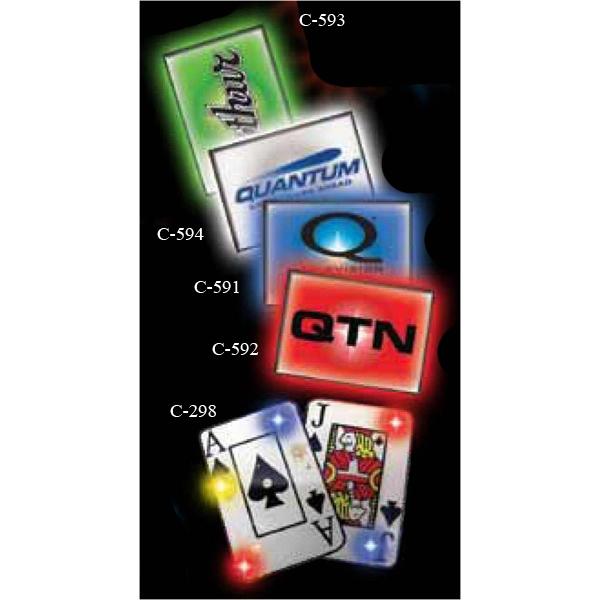 Cards Stock Shape Flashing LED Light Up Glow Button