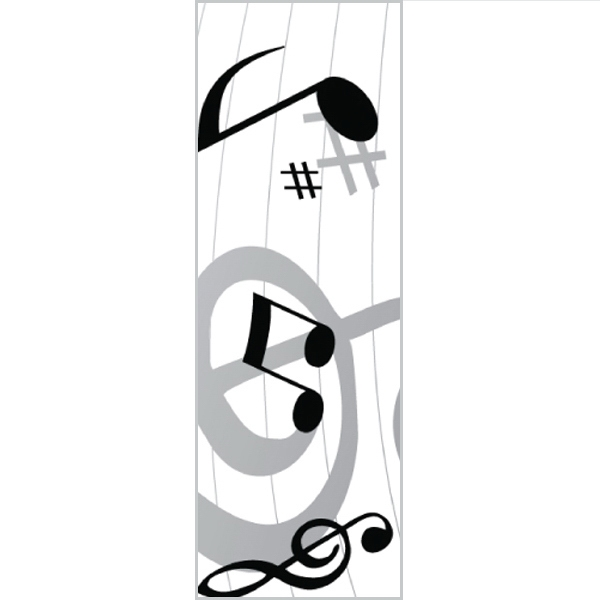 Tapetastic (r) - Music Notes - Repositionable Designer Tape. Acid Free And Photo Friendly Photo