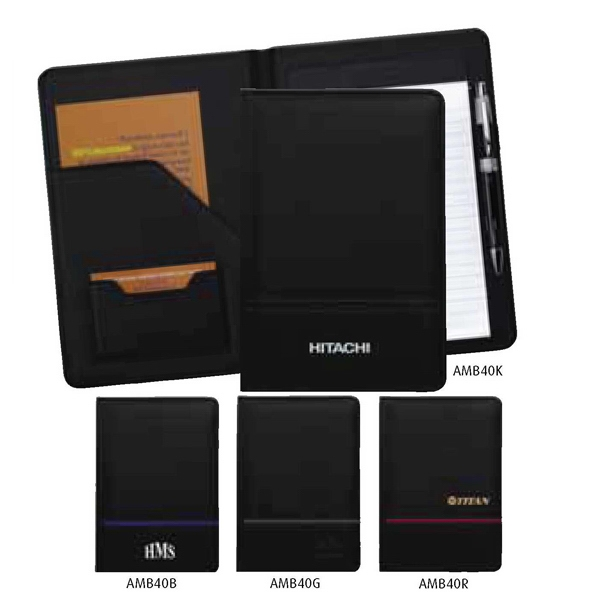 Ambition - Junior Padfolio Made Of Simulated Leather With Striped Color Accent Photo