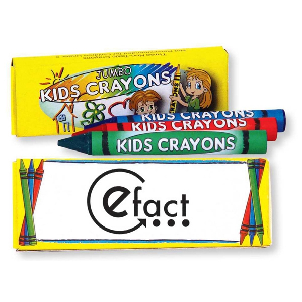 Three Pack Of Jumbo Crayons. Blank Photo