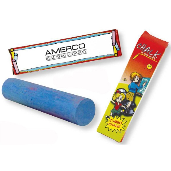 One Pack Jumbo Chalk In Assorted Colors. Blank Photo