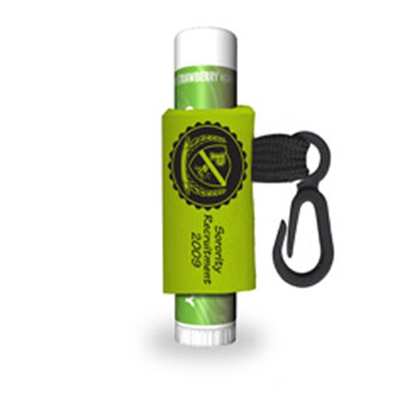 Kiwi Strawberry - Lip Balm Stick With Label And Custom Leash Photo