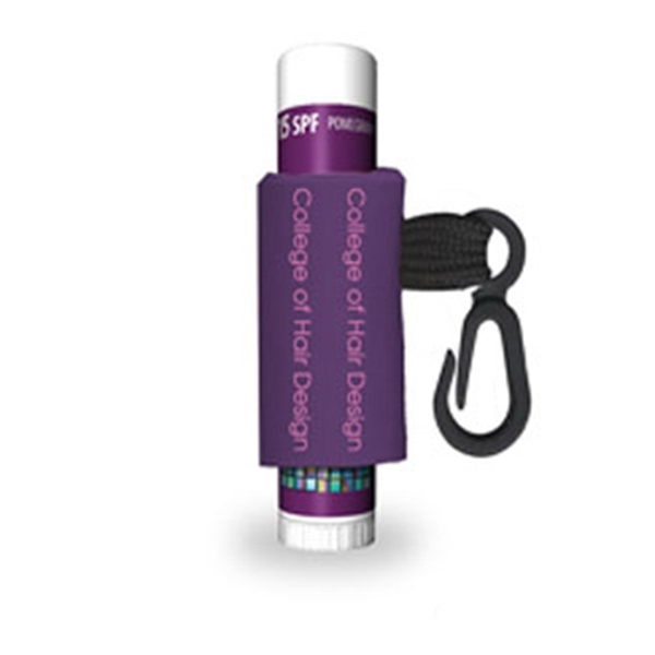 Pomegranate - Flavored Spf 15 Lip Balm With Custom Label, And Leash Photo