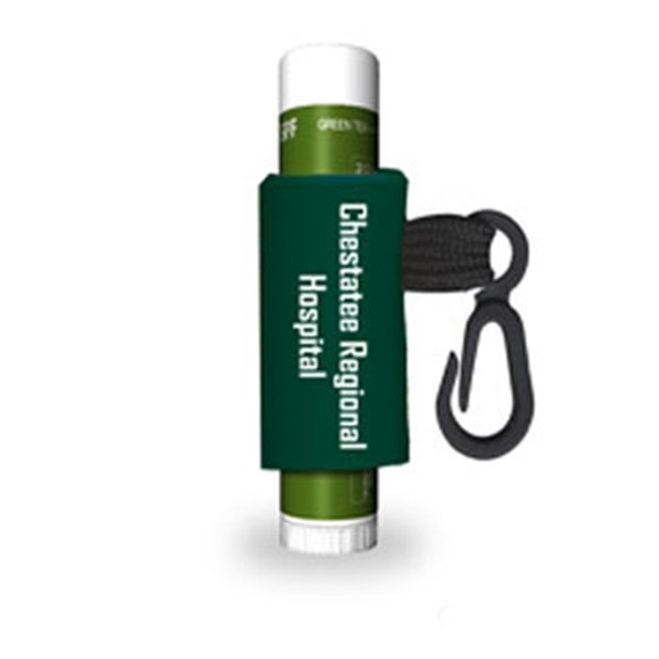 Green Tea - Citrus Lip Balm With Custom Leash And Label, Spf 15 Protection Photo