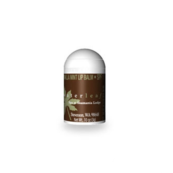 Bullet Shaped Vanilla Mint Flavored Lip Balm With Custom Label, Spf 15 Photo
