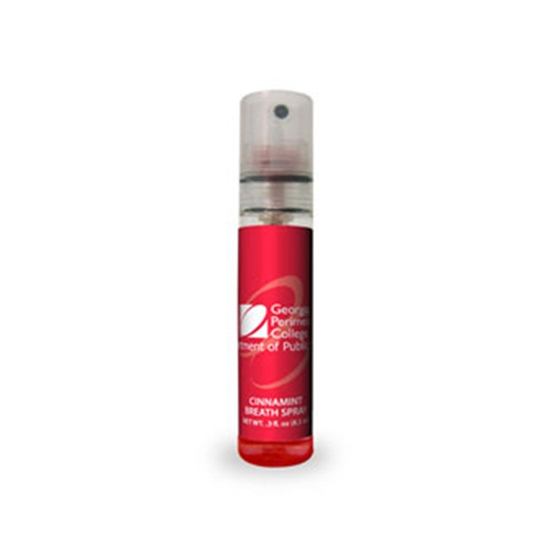 Cinnamint - Breath Spray In A Pump Bottle With Custom Label Photo